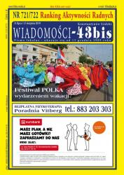 """Wiadomości - 43bis"" nr 721/722"
