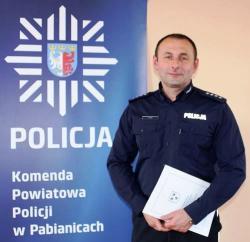 Nadkomisarz Sławomir Kłos powołany na stanowisko komendanta komisariatu w Konstantynowie Łódzkim