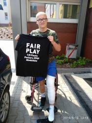 Z Nagrodą FAIR PLAY Szymon Tarała w szpitalu