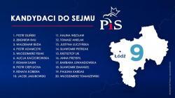 Lista PiS w okr. nr 9 (Łódź)