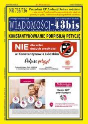 """Wiadomości - 43bis"" nr 735/736"