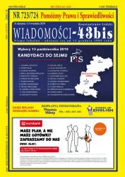 """Wiadomości - 43bis"" nr 723/724"