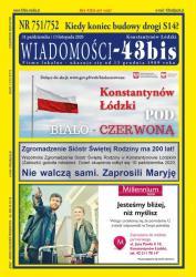 "NR 751/752 ""WIADOMOŚCI - 43bis"""