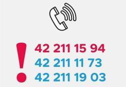 Trzy numery telefonu do UM