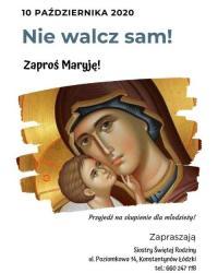 Nie walcz sam. Zaproś Maryję! Dzień skupienia dla młodzieży