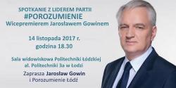 Jarosław Gowin w Łodzi