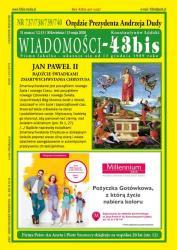 """Polecamy drukowane """"Wiadomości - 43bis"""" nr 737/738/739/740"""