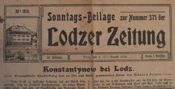 """Mamy egzemplarz """"Lodzer Zeitung"""" z sierpnia 1913 roku"""