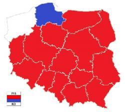 PiS najlepszy w 14 województwach