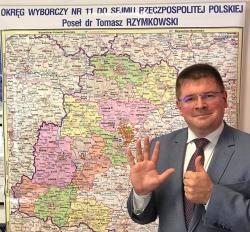 Poseł Tomasz Rzymkowski w Konstantynowie Łódzkim