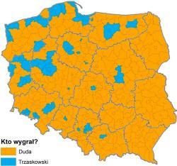Andrzej Duda zwycięża w województwie łódzkim i w powiecie pabianickim
