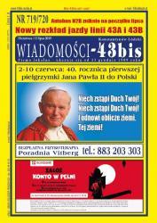 "Wiadomości - 43bis"" nr 719/720"
