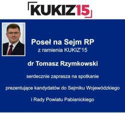 Poseł dr Tomasz Rzymkowski zaprasza