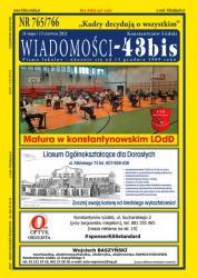 """Wiadomości - 43bis"" nr 765/766"