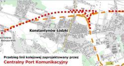Kolej przez Konstantynów Łódzki